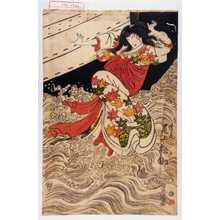 歌川豊国: 「高尾 尾上松助」 - 演劇博物館デジタル