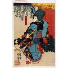 Utagawa Kuniyoshi: 「阿沙丸 後ニ景清」 - Waseda University Theatre Museum