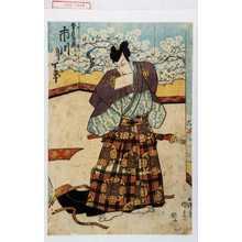 歌川国貞: 「望月左衛門 市川団十郎」 - 演劇博物館デジタル