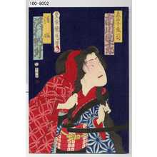 Toyohara Kunichika: 「真名子庄司 市川団十郎」「清姫 沢村訥升」 - Waseda University Theatre Museum