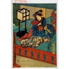 歌川国貞: 「お岩の怨霊」 - 演劇博物館デジタル