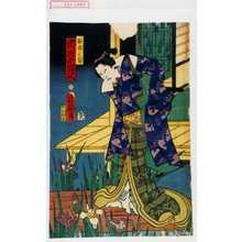 Toyohara Kunichika: 「百合の方 市川小団次」 - Waseda University Theatre Museum