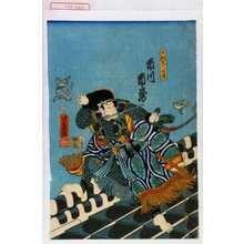 落合芳幾: 「犬飼見八信道 市川市蔵」 - 演劇博物館デジタル