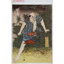 勝川春章: 「かごの甚兵衛 坂東三津五郎」 - 演劇博物館デジタル