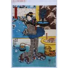 歌川国貞: 「三浦女房おしつ」 - 演劇博物館デジタル