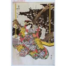 歌川国安: 「新造舟はし 瀬川菊之丞」 - 演劇博物館デジタル
