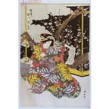 Utagawa Kuniyasu: 「新造舟はし 瀬川菊之丞」 - Waseda University Theatre Museum