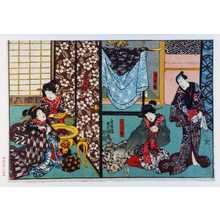 歌川国貞: 「時次郎」「うら里」「哥女里」 - 演劇博物館デジタル