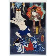 Utagawa Kunisada: 「仲居万の」「油屋おこん」 - Waseda University Theatre Museum