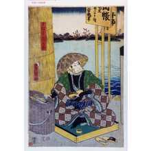 Utagawa Kunisada: 「雪駄直シ長五郎」 - Waseda University Theatre Museum