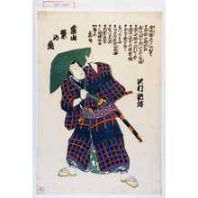 無落款: 「蔭山繁の丞 沢村訥升」 - Waseda University Theatre Museum