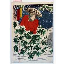 Utagawa Kunisada II: 「おつゆ親法化伝次 坂東亀蔵」 - Waseda University Theatre Museum