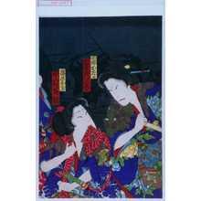 Toyohara Kunichika: 「西郷おたか 坂東彦三郎」「篠原おくに 中村芝翫」 - Waseda University Theatre Museum