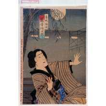 Toyohara Kunichika: 「芸妓梅次 藤澤浅次郎」 - Waseda University Theatre Museum