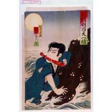香朝樓: 「新市村座三月狂言 明治天一坊」「松平景正 福井茂兵衛」 - Waseda University Theatre Museum
