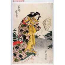 Utagawa Toyokuni I: 「岩井半四郎」 - Waseda University Theatre Museum