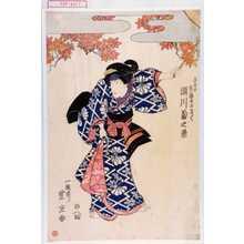 Utagawa Toyoshige: 「与五郎 実ハ芸者おさく 瀬川菊之丞」 - Waseda University Theatre Museum