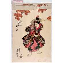 Utagawa Toyoshige: 「禿ちどり 岩井粂三郎」 - Waseda University Theatre Museum