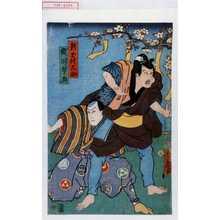Utagawa Kunisada: 「新玉権久助」「俄師琴玉」 - Waseda University Theatre Museum
