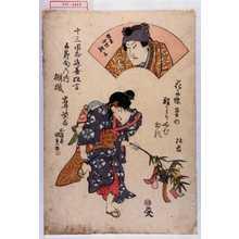 Utagawa Kunisada: 「十三回忌追善狂言」「五節句の内 棚機」「岩井紫若」「頼兼 四世訥子」 - Waseda University Theatre Museum