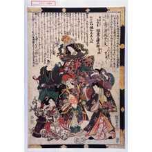 Utagawa Kunisada: 「それ/\の姿にさくや桃桜 寄三津再十二支」「右早かハり所作事 坂東三津五郎 秀佳」 - Waseda University Theatre Museum