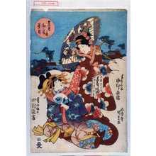 Utagawa Kunisada: 「十二月ノ内 文月 葉月」「手ならい子 市村家橘」「月の紋日 中村翫雀」 - Waseda University Theatre Museum