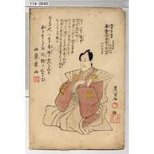 Utagawa Toyokuni I: 「浅草誓願寺 文化九年十二月八日 善覚院達誉了玄信士 行年廾九才」 - Waseda University Theatre Museum