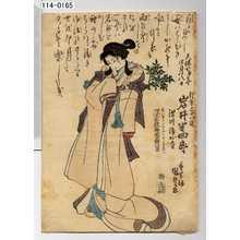 Utagawa Kunisada: 「天保七申年四月八日 行年三十八歳 岩井半四郎 深川浄心寺 深窓院梅我日鮮信士」 - Waseda University Theatre Museum