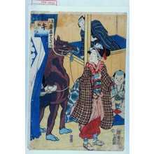 Utagawa Kunisada II: 「見立楽屋十二支之内」「午 奴小まん」 - Waseda University Theatre Museum