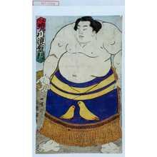 Utagawa Kuniteru: 「尾州 境川浪右衛門」 - Waseda University Theatre Museum