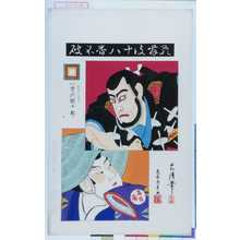 Torii Kiyosada: 「歌舞伎十八番不破」「不破伴左衛門 九世市川団十郎」 - Waseda University Theatre Museum