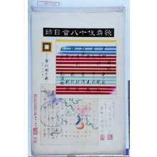 Torii Kiyosada: 「歌舞伎十八番目録」 - Waseda University Theatre Museum