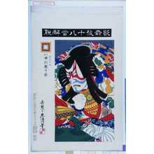 Torii Kiyosada: 「歌舞伎十八番解脱」「景清亡魂 九世市川団十郎」 - Waseda University Theatre Museum