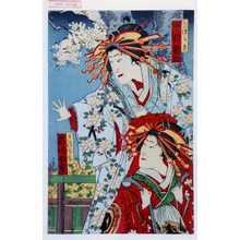 Toyohara Kunichika: 「かつらき 中村福助」「うすぐも 市川女虎」 - Waseda University Theatre Museum
