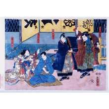 Utagawa Kunisada: 「大江額五郎」「鶴木主水」「清水清玄」「桜ひめ」 - Waseda University Theatre Museum