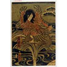 Utagawa Kuniaki: 「鴛どりの精 市村羽左衛門」 - Waseda University Theatre Museum