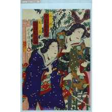 Utagawa Kunisada III: 「山根 中村勘五郎」「藤ノ谷 岩井松之助」 - Waseda University Theatre Museum