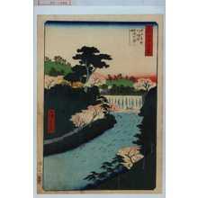 Utagawa Hiroshige: 「名所江戸百景」「王子音無川堰堤世俗大☆」 - Waseda University Theatre Museum
