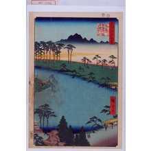 Utagawa Hiroshige: 「名所江戸百景」「角筈熊野十二社俗称十二とう」 - Waseda University Theatre Museum