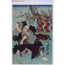 歌川国貞: 「熊谷連生法師」 - 演劇博物館デジタル