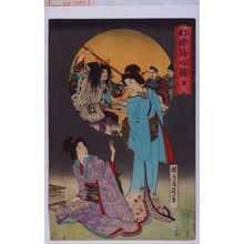 Toyohara Chikanobu: 「幻燈写心鏡 能」 - Waseda University Theatre Museum