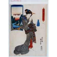 Utagawa Kunisada: 「東都六玉顔ノ内 江戸川」 - Waseda University Theatre Museum