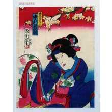 Toyohara Kunichika: 「野分姫の亡霊 中村芝翫」 - Waseda University Theatre Museum