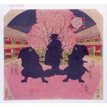 Utagawa Fusatane: 「月の姿見 鞘当」 - Waseda University Theatre Museum