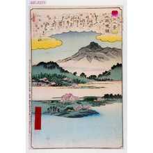 Utagawa Hiroshige: 「近江八景」「三井晩鐘」 - Waseda University Theatre Museum