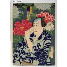 Toyohara Kunichika: 「白牡丹ノ権 河原崎三升」 - Waseda University Theatre Museum
