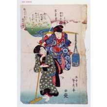 Utagawa Sadahide: 「古哥玉川」「陸奥名所 千鳥玉川」 - Waseda University Theatre Museum