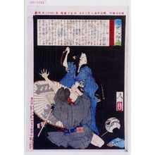 Tsukioka Yoshitoshi: 「近世人物誌」「やまと新聞附録 第十一」 - Waseda University Theatre Museum