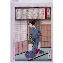 月岡芳年: 「近世人物誌」「やまと新聞附録 第十五」 - 演劇博物館デジタル