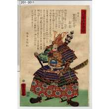 Utagawa Yoshitora: 「大日本六十余将」「安房 里見安房守義豊」 - Waseda University Theatre Museum